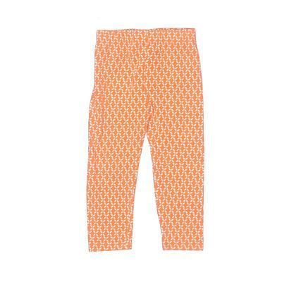 Rare Editions Leggings: Orange Print Bottoms – Size 24 Month