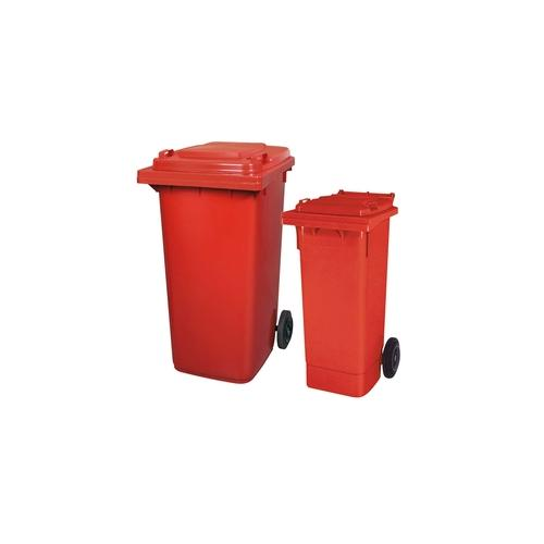 BRB Set mit 1x DIN Mülltonne 80 Liter rot und 1x DIN Mülltonne 240 Liter rot
