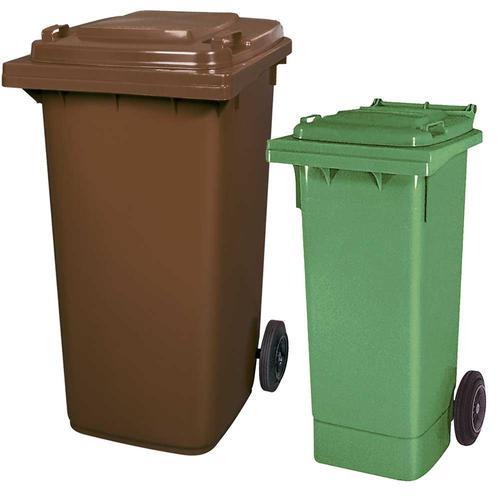 BRB Set mit 1x DIN Mülltonne 80 Liter grün und 1x DIN Mülltonne 240 Liter braun