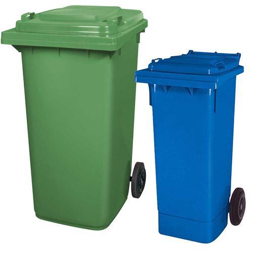 BRB Set mit 1x DIN Mülltonne 80 Liter blau und 1x DIN Mülltonne 240 Liter grün