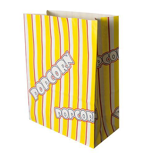 """Papstar 100 Popcorn Tüten, Pergament-Ersatz 4,5 l 24,5 cm x 19 cm x 9,5 cm """"Popcorn"""" fettdicht"""