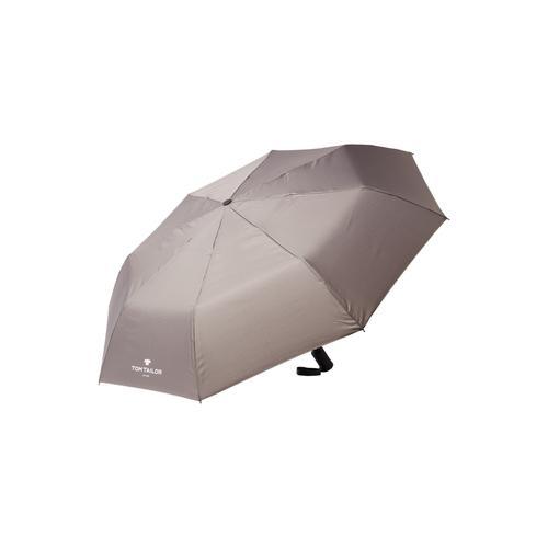 TOM TAILOR Taschenregenschirm Kleiner Automatik Regenschirm grau Taschenschirme Regenschirme Accessoires Unisex