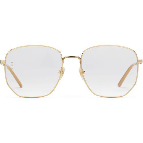 Gucci Brille mit rechteckigem Rahmen aus Metall