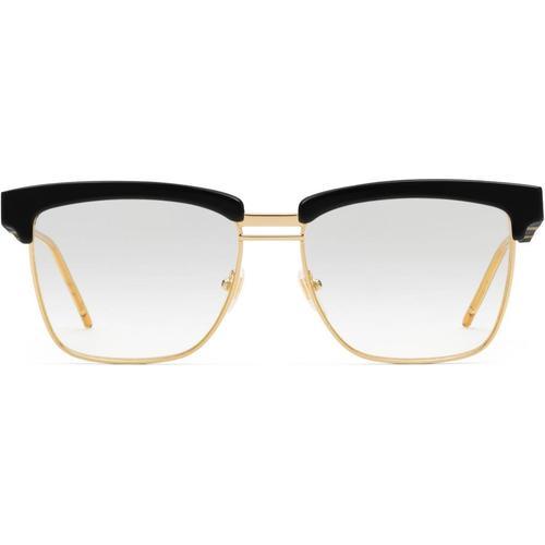 Gucci Brille mit quadratischem Azetatrahmen