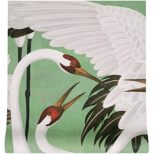Gucci Tapete mit Reiher-Print