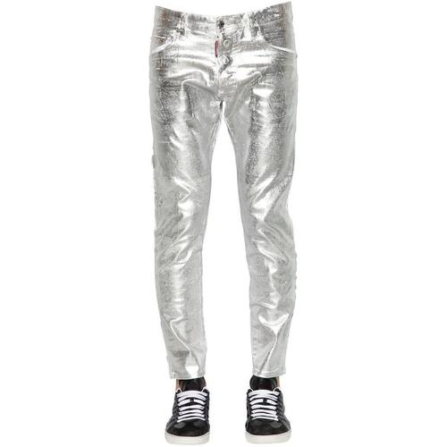 DSquared² 16cm Jeans Aus Gewachstem Denim