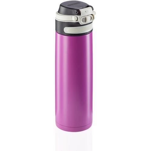 Leifheit Thermoflasche Flip, 600 ml lila Aufbewahrung Küchenhelfer Haushaltswaren