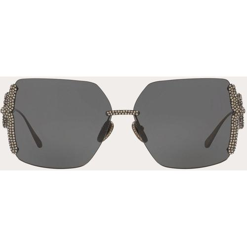 Valentino Valentino garavani occhiali brille aus metall mit kristall-vlogo