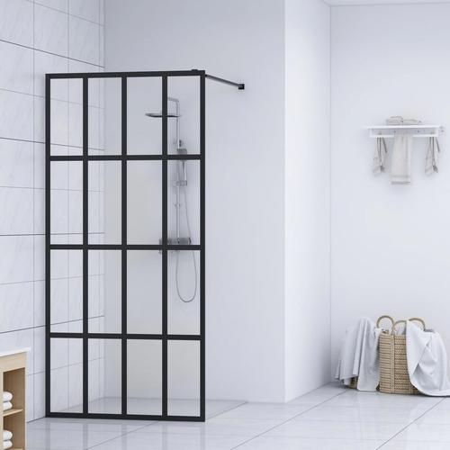 vidaXL Duschwand für Begehbare Dusche Hartglas 100×195 cm