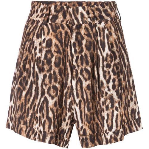 R13 Shorts mit Leoparden-Print