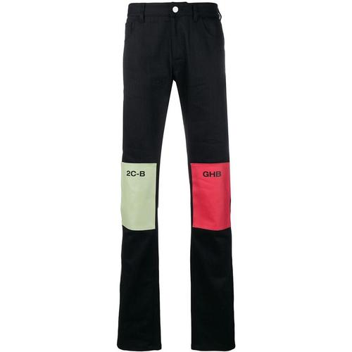 Raf Simons Gerade Jeans mit Patches