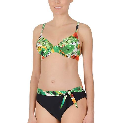 Damen Bügel Bikini Naturana schwarz-vanille-papaya