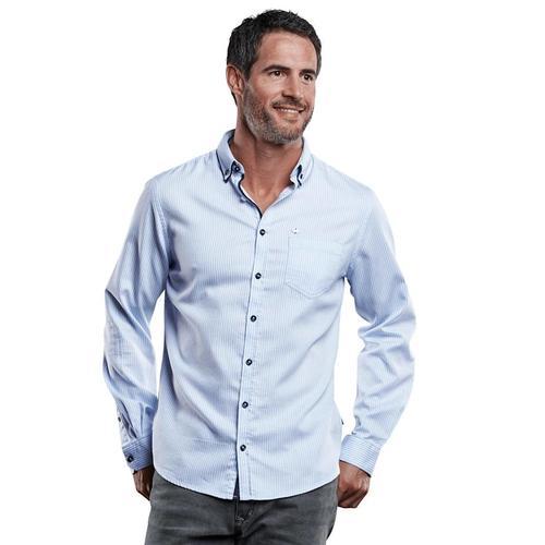 Edel glänzendes Langarmhemd Engbers Hellblau
