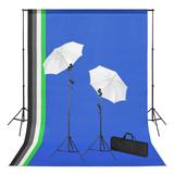 vidaXL Fotostudio-Set mit Hinter...