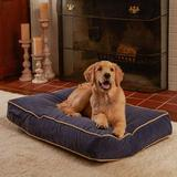 Happy Hounds Bailey Rectangle Pillow Dog Bed w/ Removable Cover, Denim, X-Small