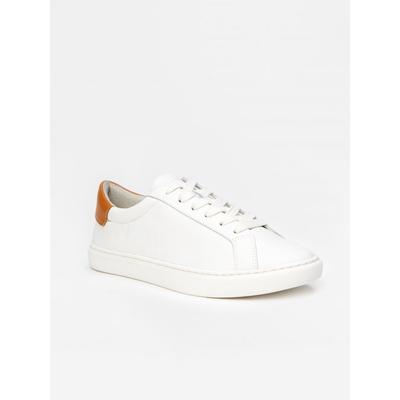 J.McLaughlin Women's Angelique Leather Sneakers White Solid, Size 8.5