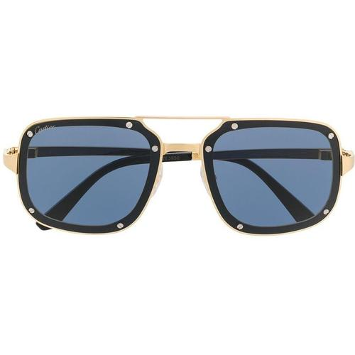 Cartier Eckige Sonnenbrille