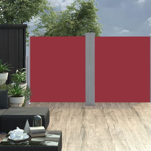 vidaXL Ausziehbare Seitenmarkise 170 x 600 cm Rot