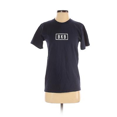 American Apparel - American Apparel Short Sleeve T-Shirt: Blue Print Tops - Size Small