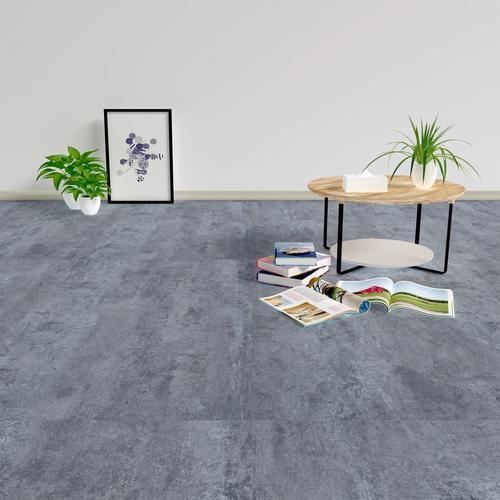 vidaXL Laminat Dielen Selbstklebend 5,11 m² PVC Grauer Marmor
