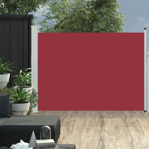 vidaXL Ausziehbare Seitenmarkise 100×500 cm Rot