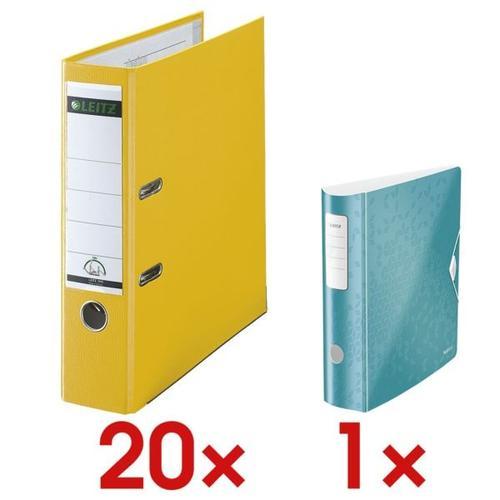 20x Ordner »1010« inkl. Ordner »180° Active WOW 1106« gelb, Leitz, 8x31.8x28.5 cm