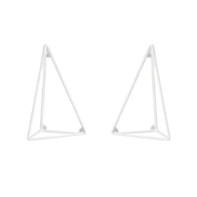 Maze - Set of 2 XS White Pythagoras Shelf Consoles
