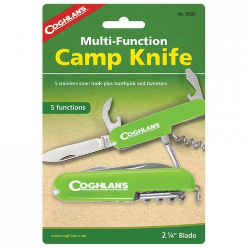 Coghlans - Taschenmesser 'Camp Knife' - Messer Gr 5 Funktionen grün/ silber