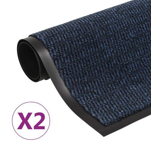 vidaXL Schmutzfangmatten 2 Stk. Rechteckig Getuftet 120x180cm Blau