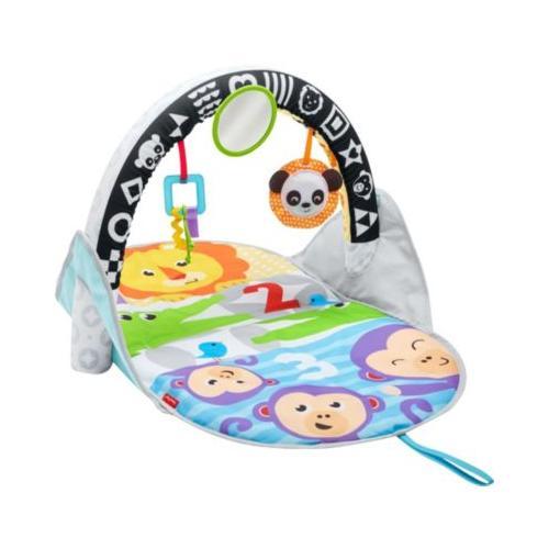 Fisher-Price Safari Spieldecke to go, Krabbeldecke mit Spielbogen, Babydecke