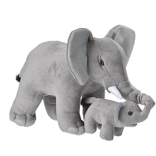 Mama und Baby Elefant