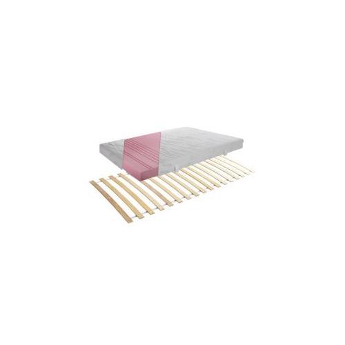 Set Rollrost + Matratze 7-Zonen Aloe Vera 90x200cm weiß