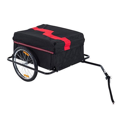 Transportanhänger Fahrräder schwarz/rot Erwachsene