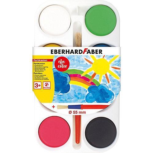 Mini Kids Farbkasten, 8 Farben & Pinsel