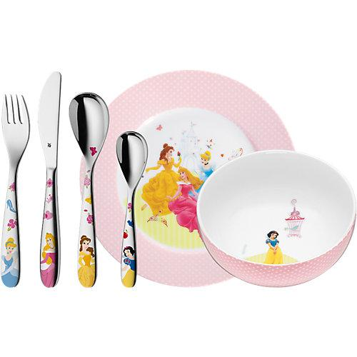 WMF Kindergeschirr- und besteck Set Disney PRINCESS, 6-tlg. rosa-kombi