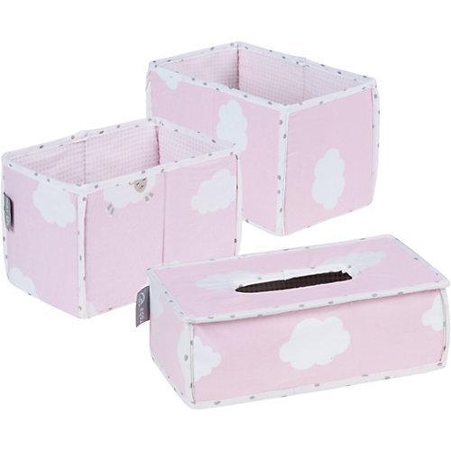 Pflegeorganizer Kleine Wolke, 3er- Set, rosa