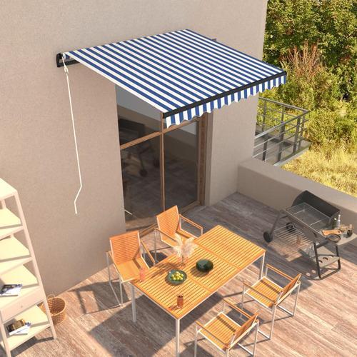 vidaXL Automatisch Einziehbare Markise 300 x 250 cm Blau und Weiß