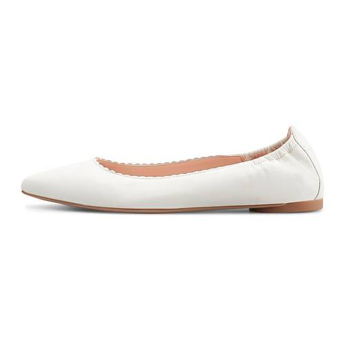 Unisa, Leder-Ballerina Aspas in weiß, Ballerinas für Damen Gr. 37