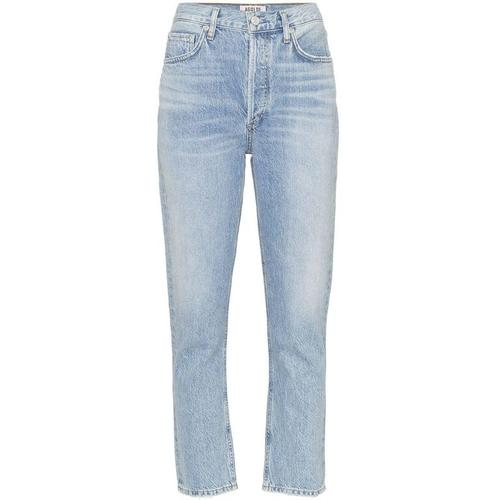 Agolde Hoch geschnittene Cropped-Jeans