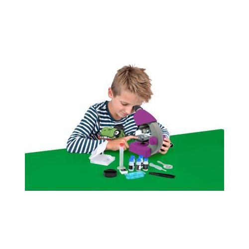 40x-640x Mikroskop Lila