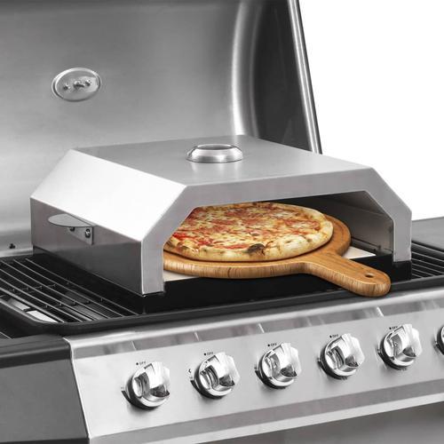 vidaXL Pizzaofen mit Keramikstein für Gas-Kohlegrill