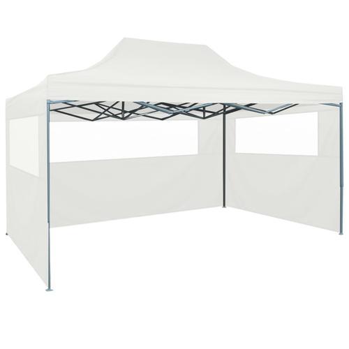 vidaXL Faltbares Partyzelt mit 3 Seitenwänden 3 x 4,5 m Weiß