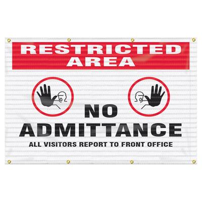 Accuform Signs FBW202 Fence-Wrap? Mesh Gate Screen, 4 ft x 6 ft