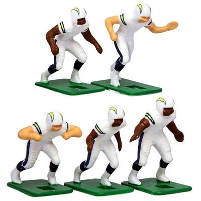 Los Angeles Chargers White Uniform Action Figures Set
