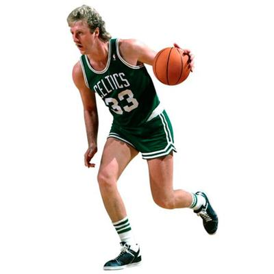 """Fathead Larry Bird Boston Celtics Life Size Removable Wall Decal"""
