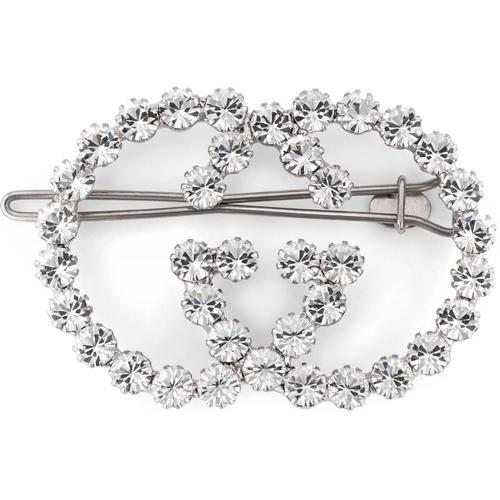 Gucci Haarspange mit kristallbesetztem gg