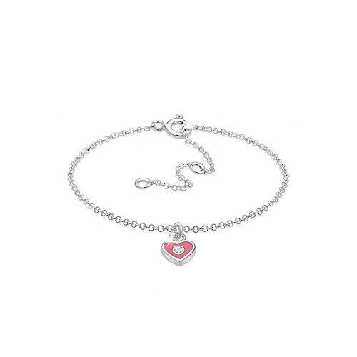 Elli Armband Kinder Herz Bunt Kristalle 925 Silber Armbänder silber Mädchen Kinder