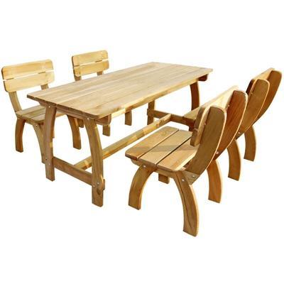 5 Piece Outdoor Dining Set Impregnated Pinewood - Vidaxl