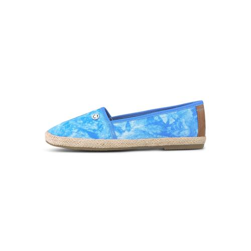 TOM TAILOR Damen Batik Stoffslipper, blau, Gr.38