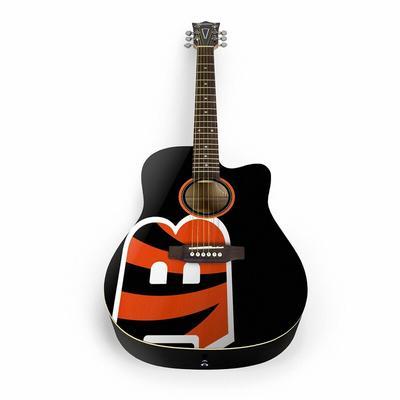 Cincinnati Bengals Woodrow Acoustic Guitar